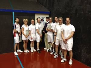 * Pro Squash Player Visits Prince's Court